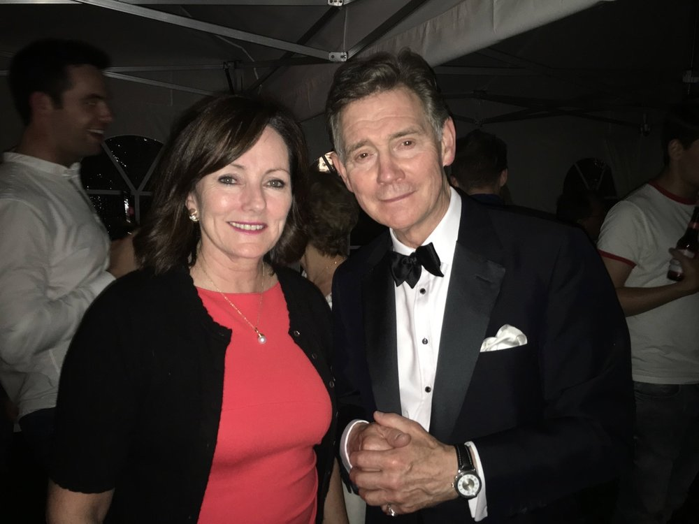 Jacquie Storey with Anthony Andrews at the 60th Anniversary concert of My Fair Lady in Covent Garden London 2015. Choreographed by yours truly!