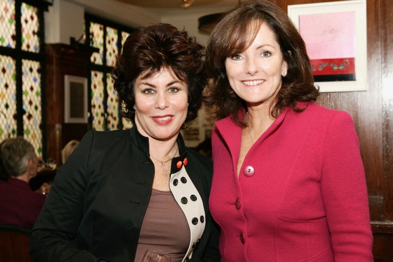 Jacquie Storey introducing Ruby Wax at The Ivy Club ladies lunch