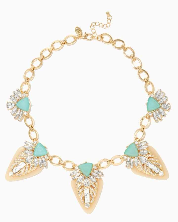click above to score today's deal on this oh so swell statement necklace via Charming Charlie for  $16.99  while supplies last!