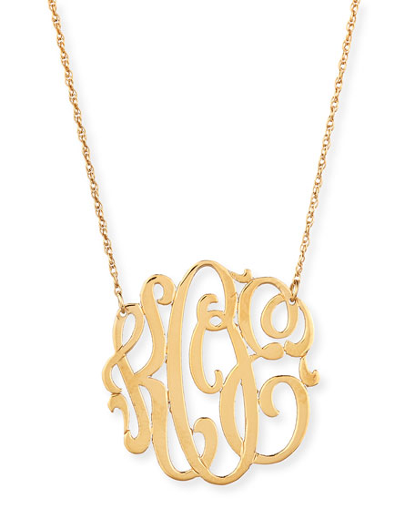 {click to shop all jennifer zuener via nieman marcus} One of our most requested styles, Jennifer Zeuner makes one of the most stunning cut out monogram necklaces we have found.  We adore this style via Neiman Marcus in gold, sterling silver or rose gold.