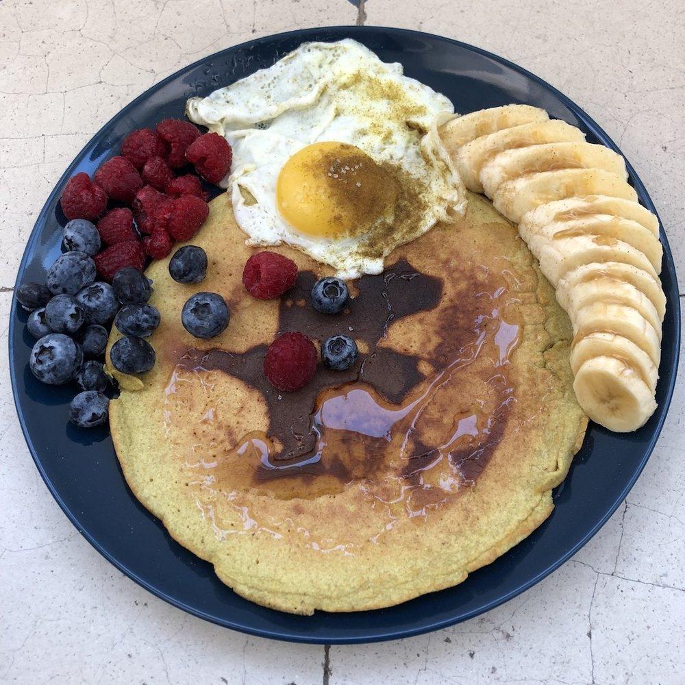 pancake, castañas, sin gluten