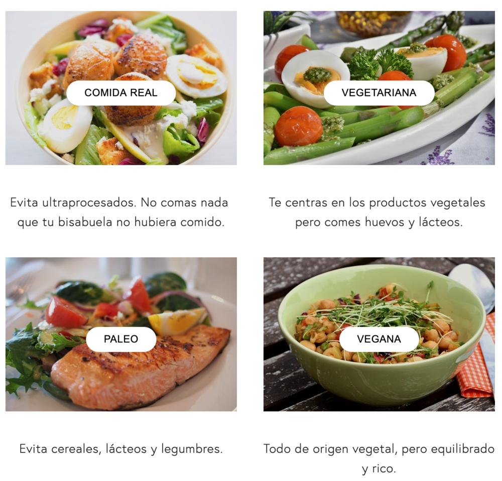 comida real, vegetariano, vegano, paleo, keto, fodmap, histamina