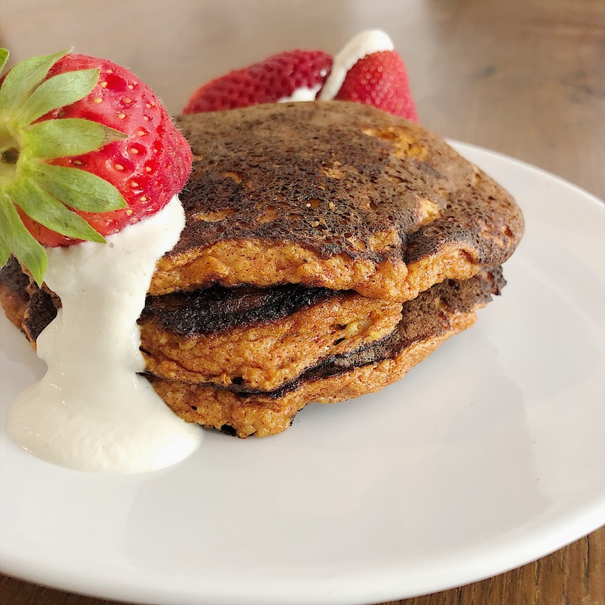 tortitas paleo coco nata pancakes sin gluten sin lacteos sin lactosa