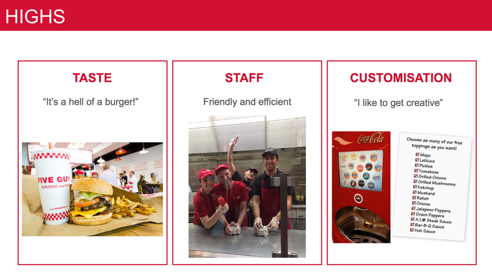 What people love about Five Guys experience...