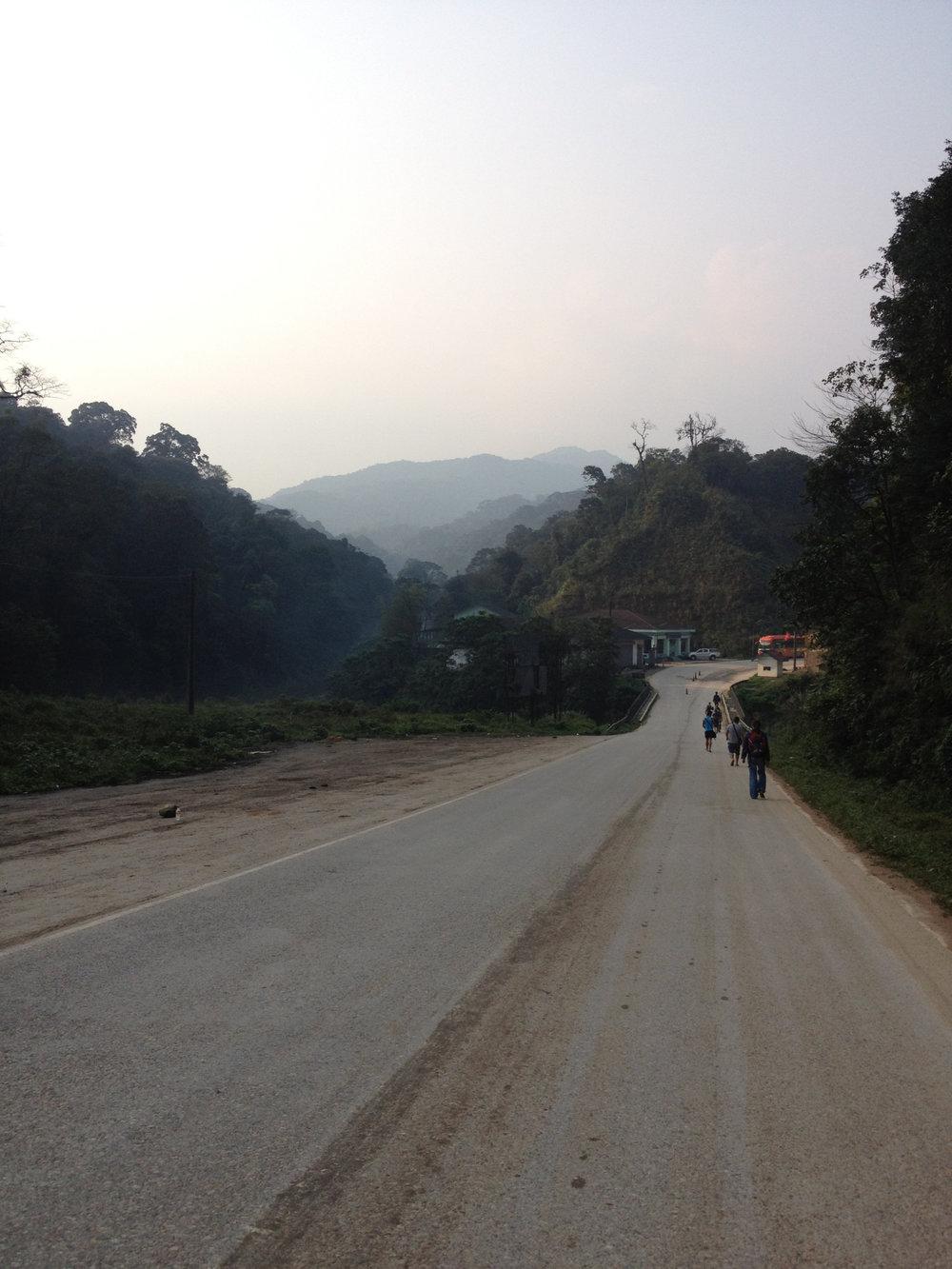 Border crossing from Vietnam to Laos