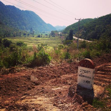 Entering the Nam Ha National Bio-Diversity Conservation Area