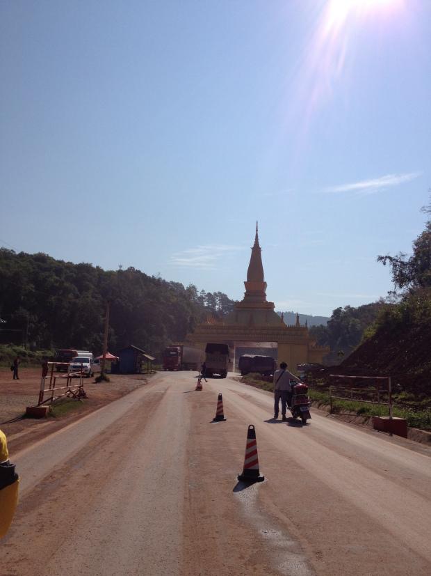 Laos China border - Mengla