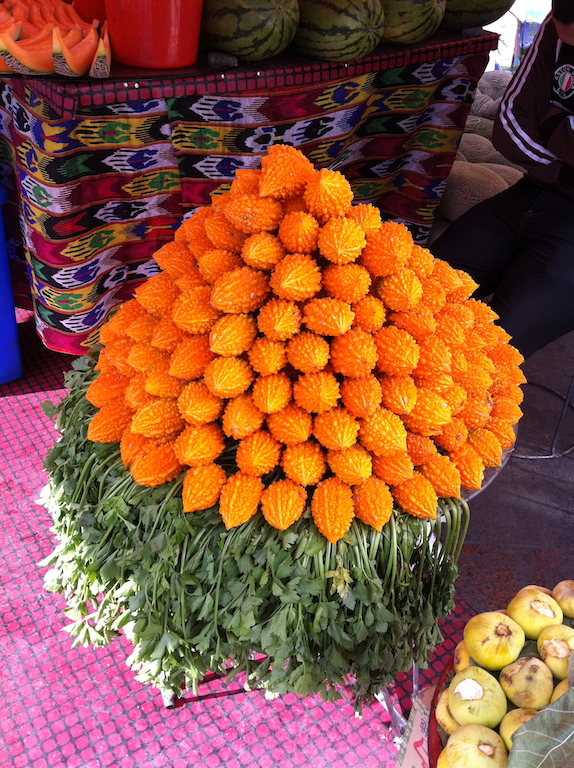 """The big bazaar is a """"Chinese souk"""" with stalls of fresh fruits, dried fruits, nuts, spices and Chinese medicinal herbs"""