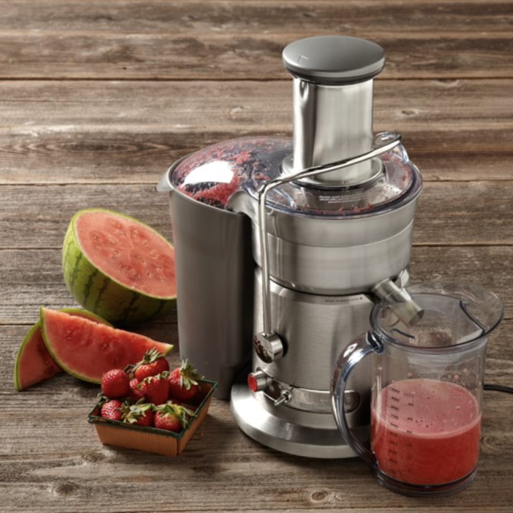 I use the  Breville Juice Fountain Elite Juicer .