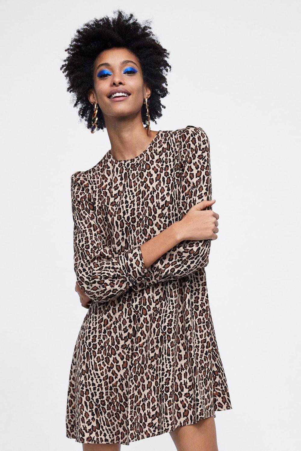 Zara: Animal Print Dress