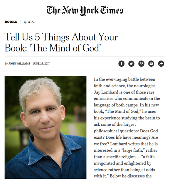 Featured in the New York Times -