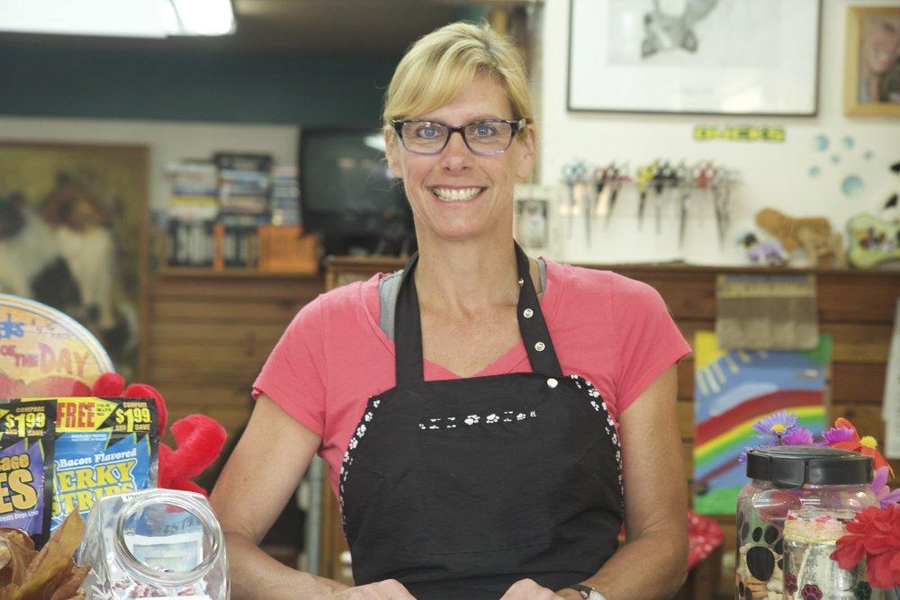 Trish Cole, owner of Suds 'Em Yourself Dog Wash, in Eugene OR