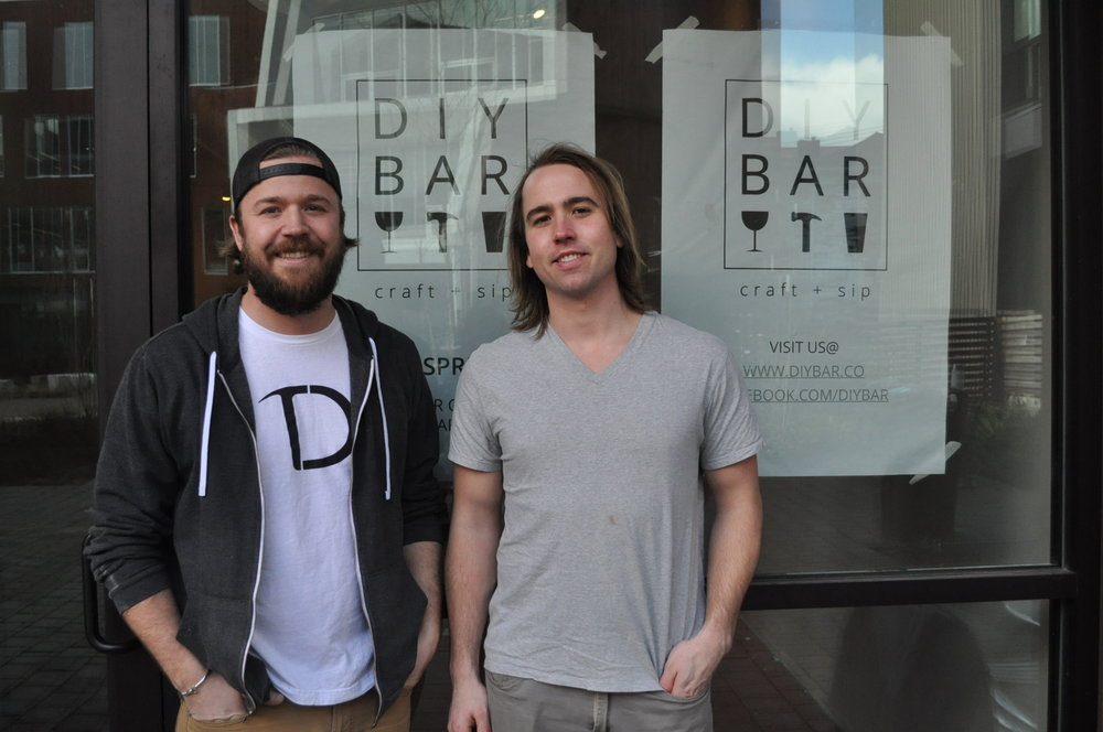 Jason (left) and Adam Gorske stand in front of their retail space on Vancouver Ave. in North Portland.