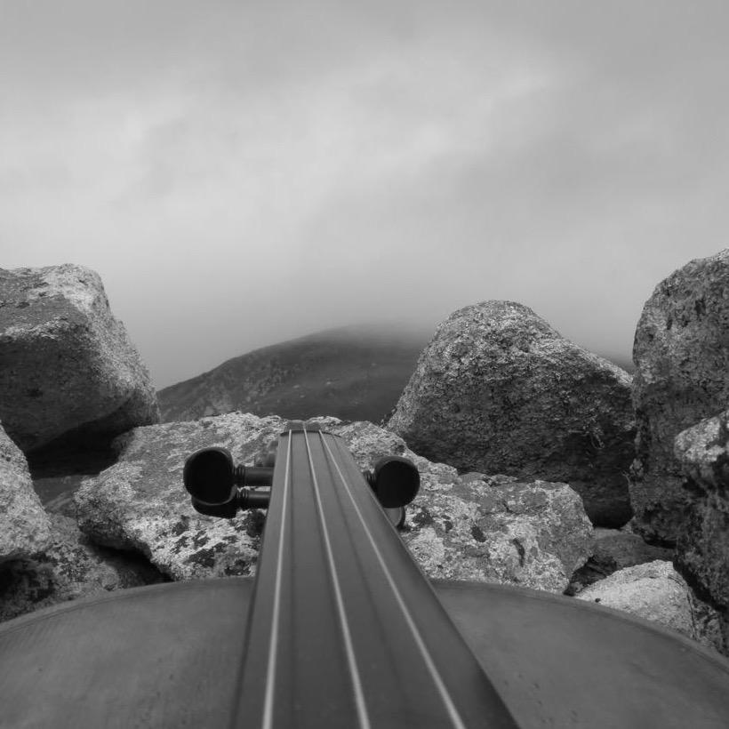 Violin & landscape: Hirta, St Kilda