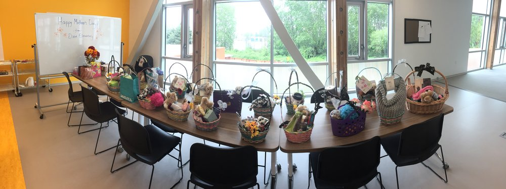 Mother's Day Baskets: made & donated by Dixon Elementary School for Autism Awareness Month