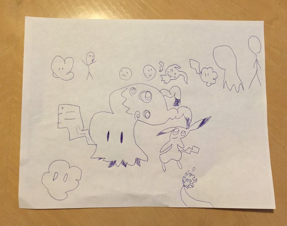 Pokemon art, created by one of our GIRLS. Thanks, Katrina!