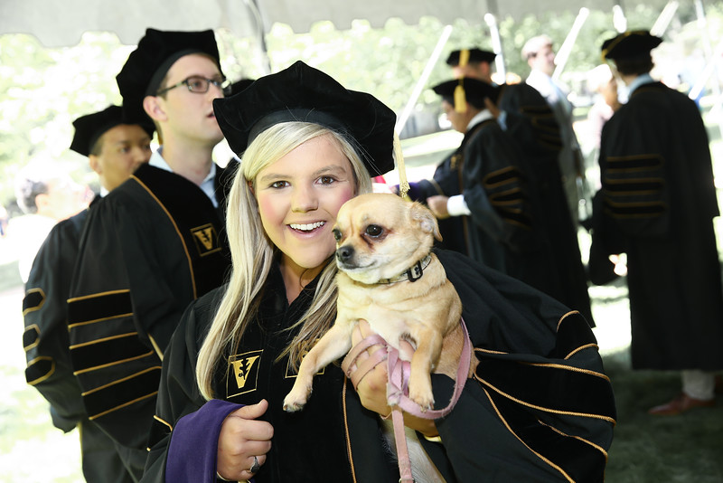 Emily A. Burns at her Vanderbilt Law Commencement Ceremony