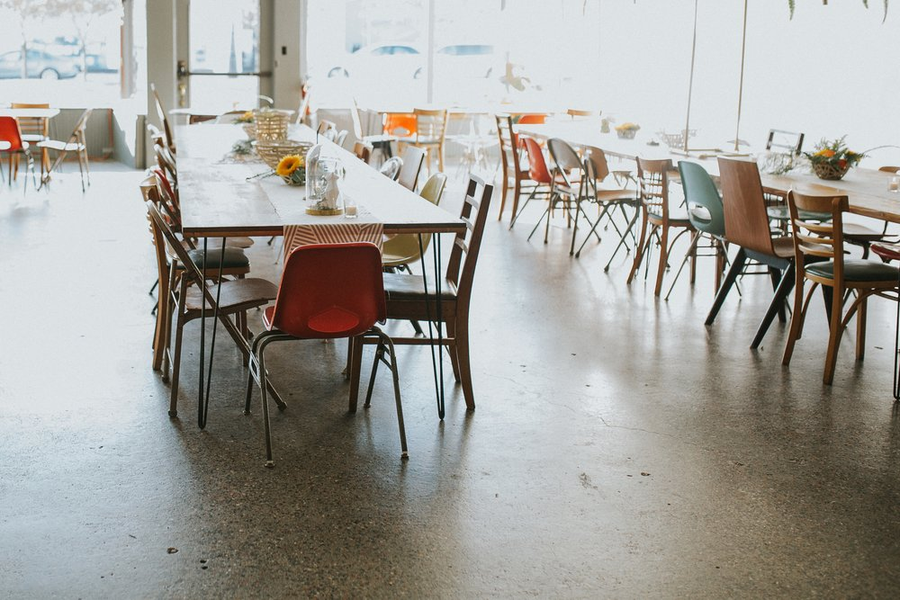 We had too much fun mixing up these mid-century chairs to create the perfect look!