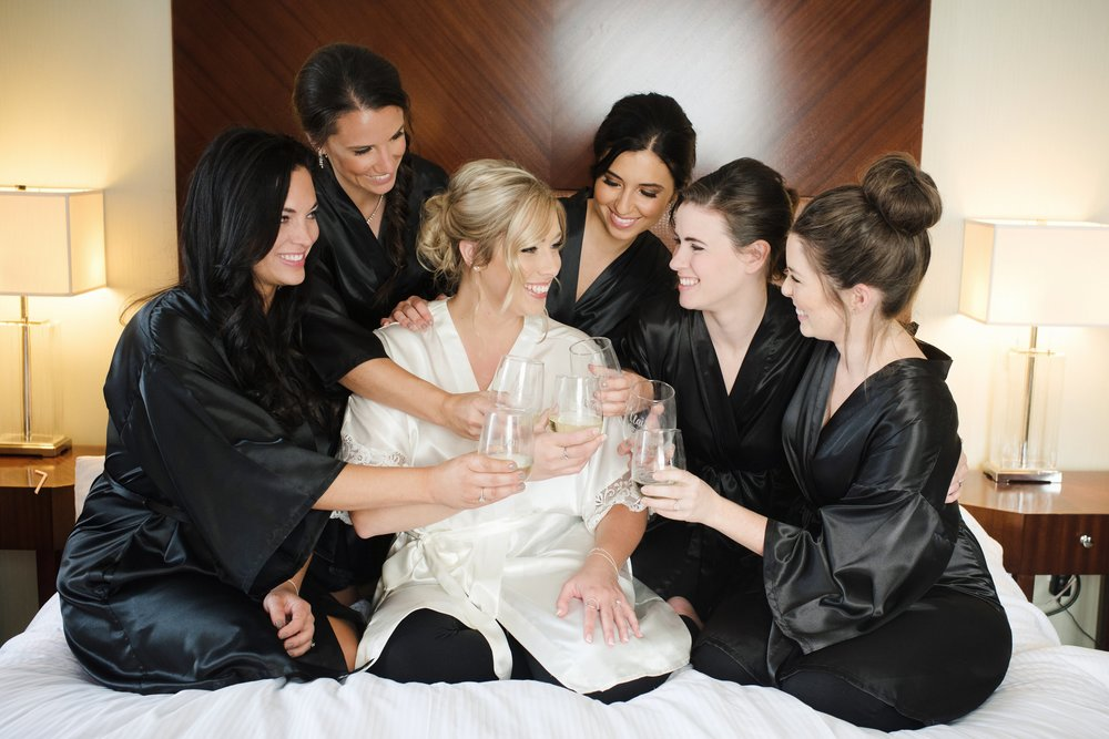 Chic getting ready robes and champagne are a must!