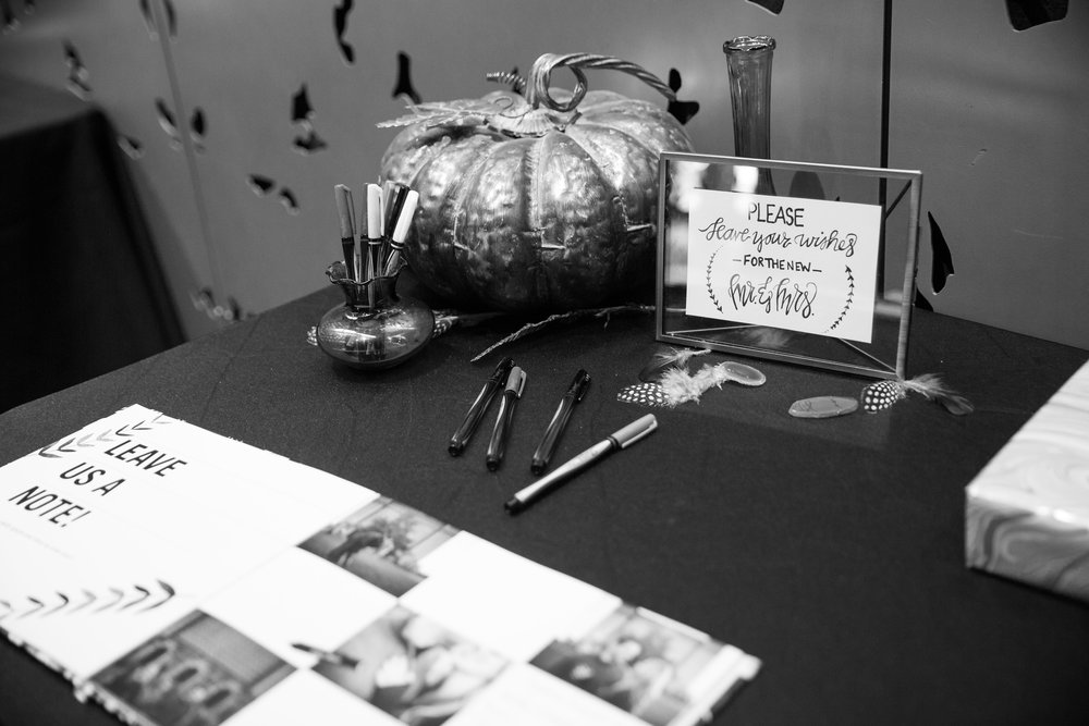 Caitlin and Mitch opted to have a personalized photo book with interactive pages instead of a traditional guest book. The guests loved it!