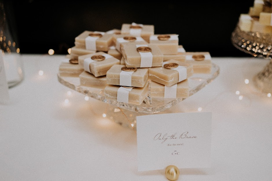 All of the guests loved the soap scents and admiring the luxe packaging with Courtney & Chris' custom monogram wax seal.