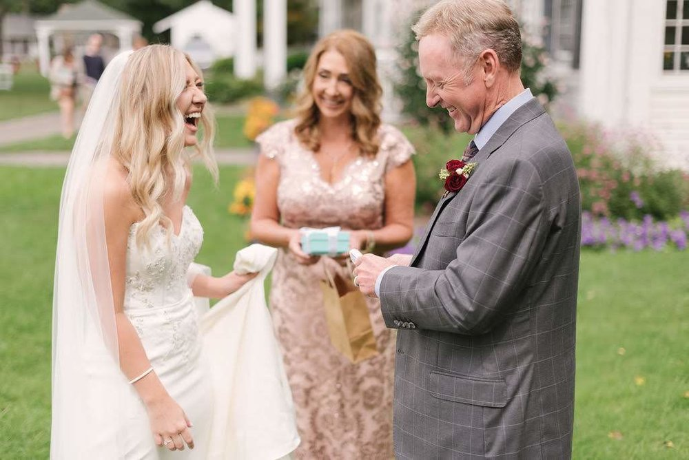 "Cue the feels! We love ""father first looks,"" such a special moment for Kayley and her parents!"