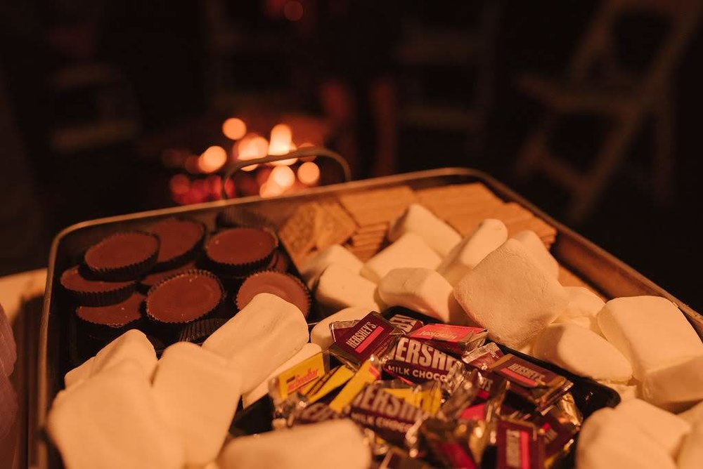A sweet ending to the night with a s'mores bar for guests to enjoy!