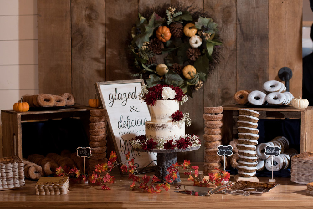 Donuts, donuts, donuts! Frosted blueberry, pumpkin and apple favors were greatly enjoyed by all!