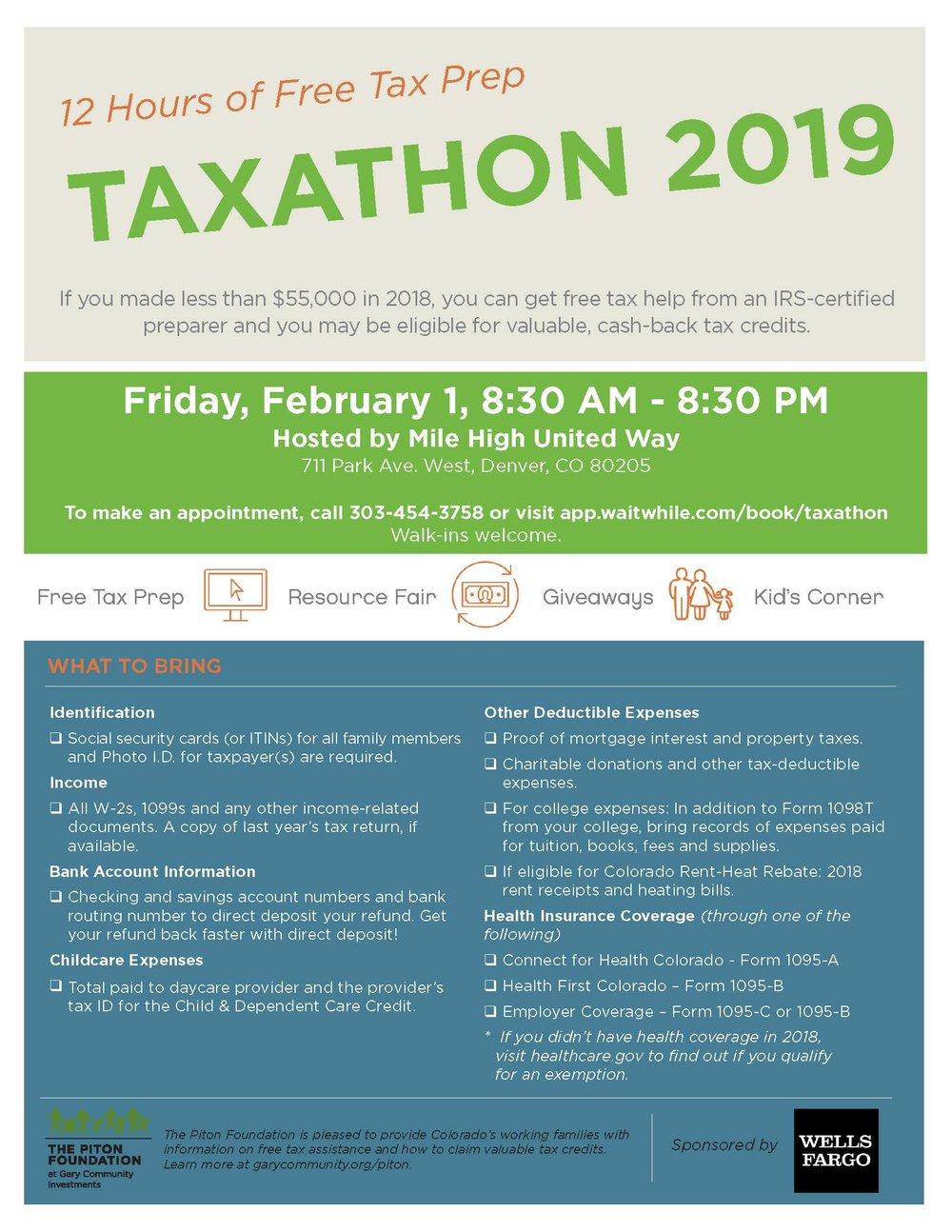 Taxathon 2019 — Arapahoe County Early Childhood Council