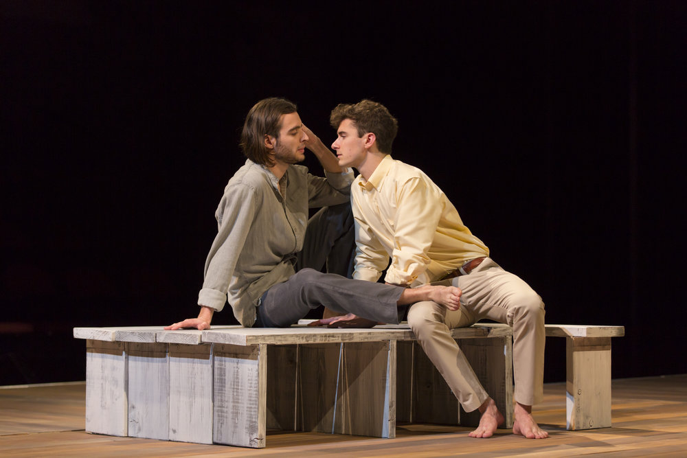 Dylan Frederick as CLAUDE and Patrick Madden as CONNOR.  Photo by T. Charles Erickson