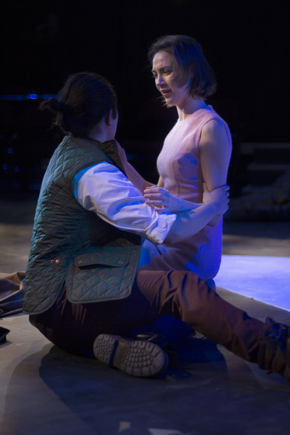 Eston Fung as LYSANDER, and Sydney Lemmon as HELENA