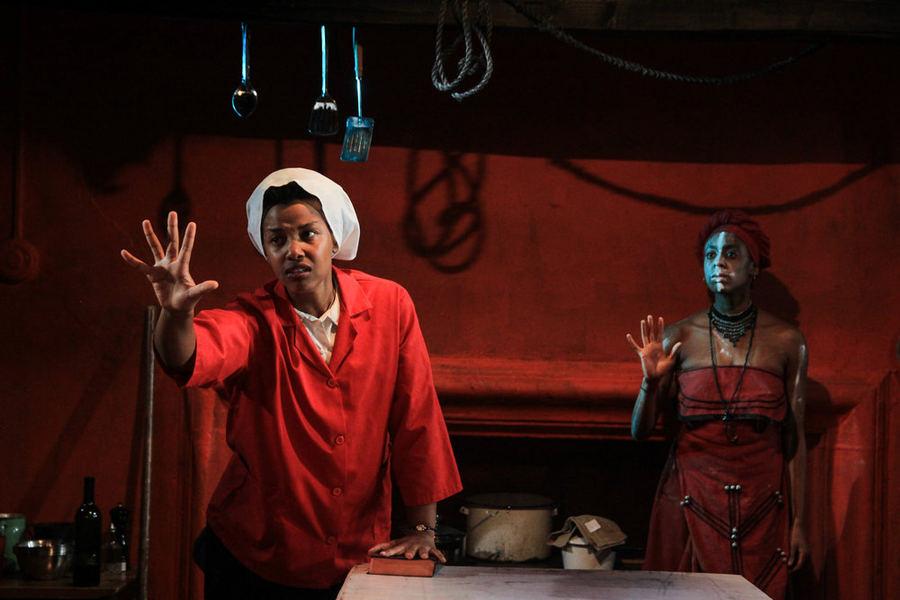 Kineta Kunutu as CHRISTINE, Amandla Jahava as UKHOKHO
