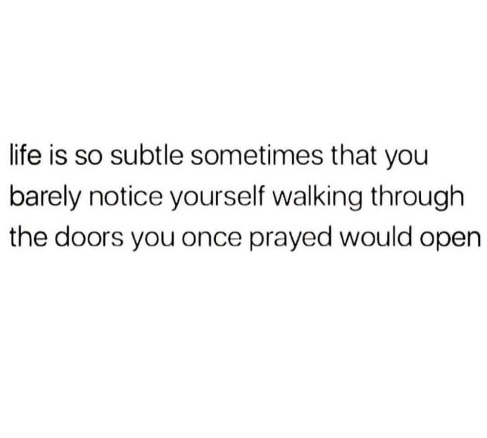 Life is Subtle