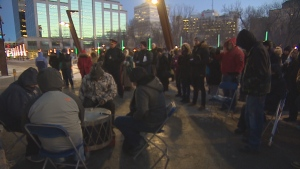 Several speakers and community leaders at a homelessness vigil last month said collaboration is needed to address the root cause of homelessness in Regina. (Glenn Reid/CBC)