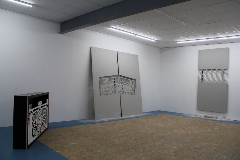 Exhibition view :  Le syndrome du précipice , Hugues Loinard, Galerie Marchepied