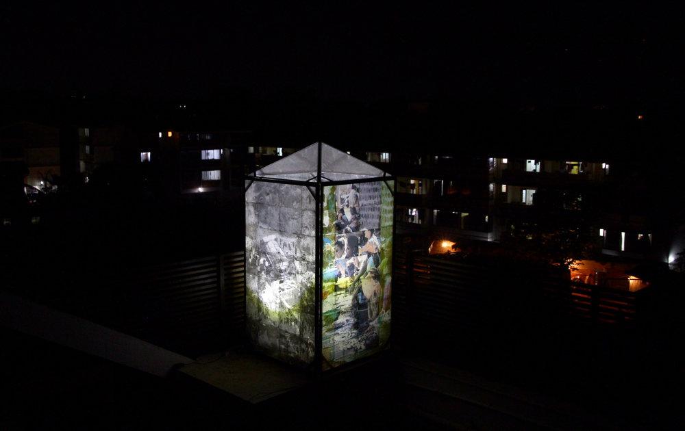 Edouard Burgeat, Les abris imaginaires, Indian shelter , 2018, Goa, Inde