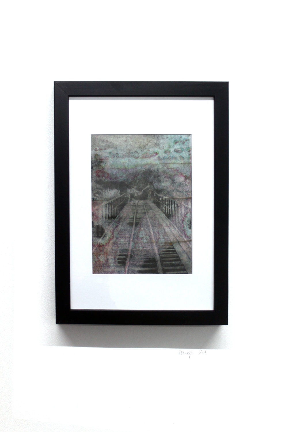 Edouard Burgeat,  Train rails acid fragments, Strange deal,  Analog photo-transfer on steel plate, 21x15cm
