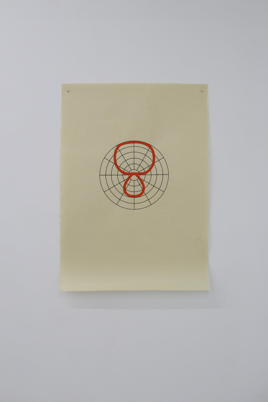 Antonin Gerson,  Orange  - Hypercardioïde, sérigraphie, gouache, 58x84cm 2018