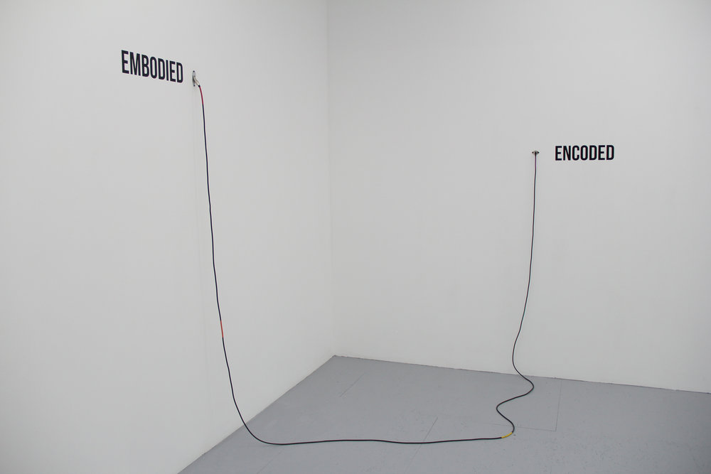 Antonin Gerson,  Input in Situ : Encoded to Embodied, Embodied to Encoded,  techniques mixtes, dimensions variables, 2018