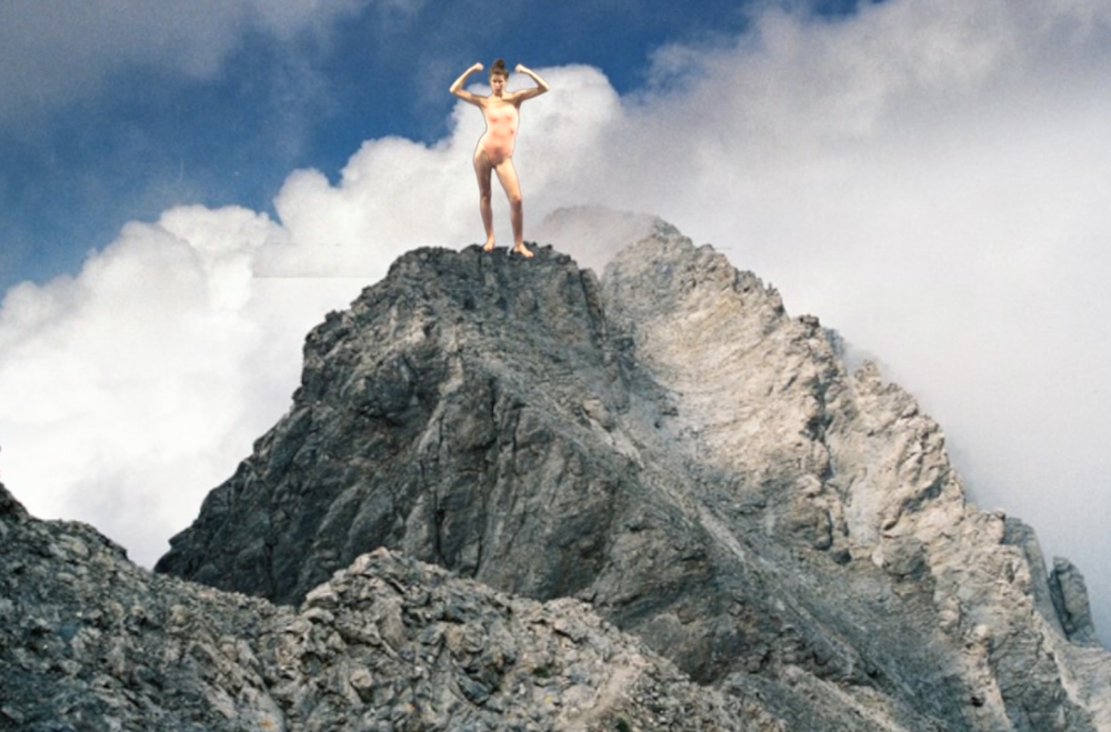 Pauline Gompertz,  Mont Olympe,  Vidéo couleur, 1'30, 2014