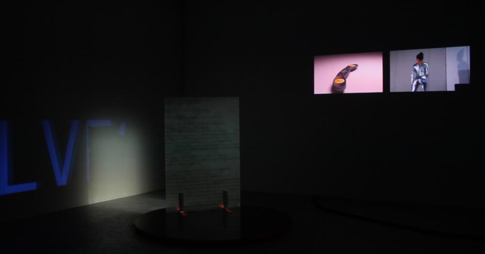 Exhibition view :  Hétéromation , vidéo installation, Léa Viretto