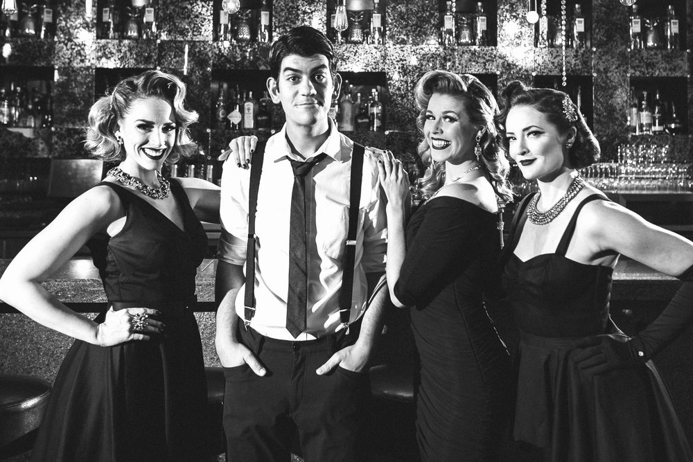 Creators of The Bombshells: Tiffany Dissette, David Lamoureux, Heather Lundstedt O'Neill and Leah Sprecher.   Photo by:  Member Photography