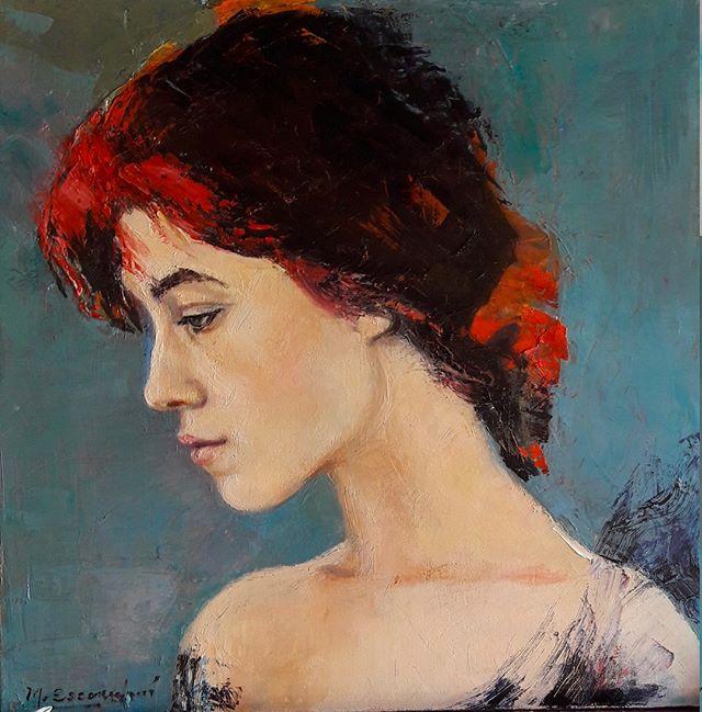 De la serie días y más días... Sold . . . . #art #arte #galeria #artgallery #galerialoscaracoles #retrato #portrait #contemporaryart #retratocontemporaneo #artist #artista #oilpainting #joseignacio #uruguay