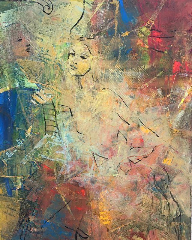 """""""Paris"""" . . . . #contemporaryart #uruguay #artcollectors #art #arte #painting #artgallery #galerialoscaracoles #diseño #colores #decoración"""