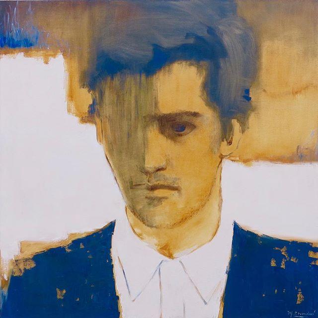 """""""El joven ejecutivo"""" de la serie Centennials 1.20m x 1.20m . . . . #art #arte #contemporaryart #uruguay #oilpainting #retratocontemporaneo #artgallery #instaart #galeria"""