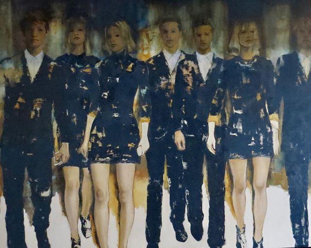 """Ciudad vieja' 1.20m x 1.50m de la serie Centennials . . . . #contemporaryart #uruguay #oilpainting #retratocontemporaneo #artgallery #arte #art #galeria #instaart #figuriveart"