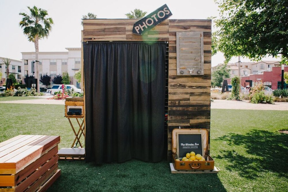 Wooden Box Photo Booth at The Lemon Festival