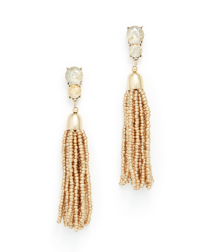 Gold Beaded Earring