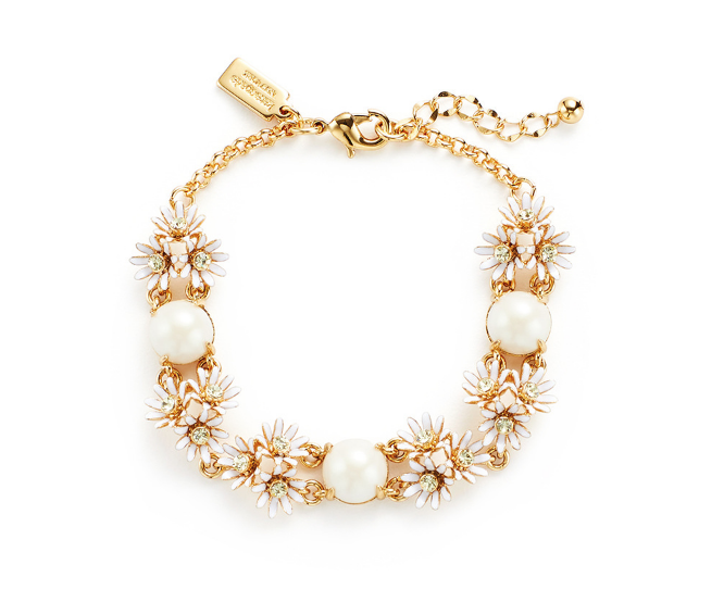 White Daisy Bracelet