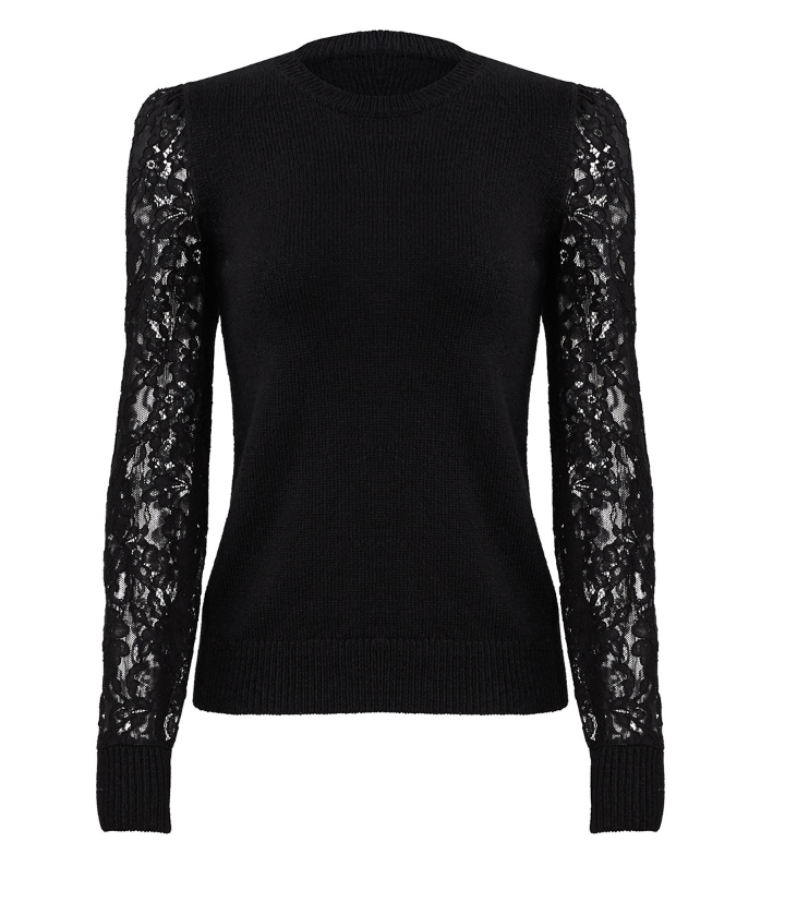 Black Lace Sweater